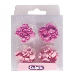 Flores de azúcar mini rosas 2 tonos, 100ud