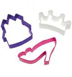 Cortapastas corona, castillo y zapato
