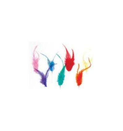 Plumas, colores surtidos - Dulcinenca