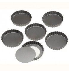 Moldes para tarta/Quiche 10 cm, 6Ud