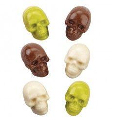 Molde para chocolate Calaveras 3D