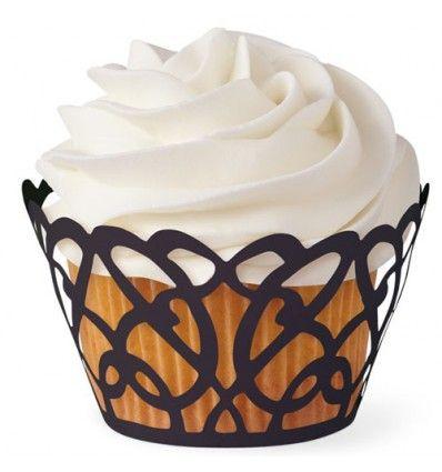 Wraps adorno Cupcakes negro