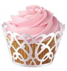 Wraps adorno Cupcakes blanco