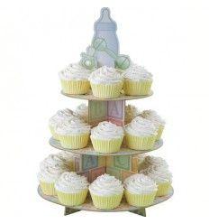 Soporte cupcakes Piececitos Bebe