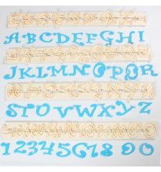 Regla cortador letras y números 2 cm