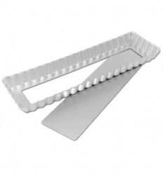 Molde rectangular de base extraible 34,9x10,7 cm