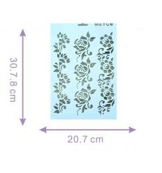 Plantilla Stencil Rosas