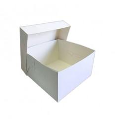 Caja blanca cuadrada para pastel 20x20x15 cm