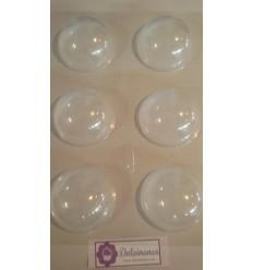 Molde PVC Semiesfera 8 cm, 6 Cavidades