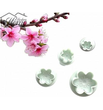 Set 4 cortapastas flores con expulsor