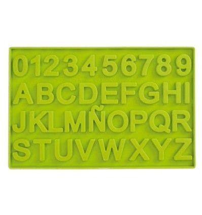 Molde para chocolate de letras y números